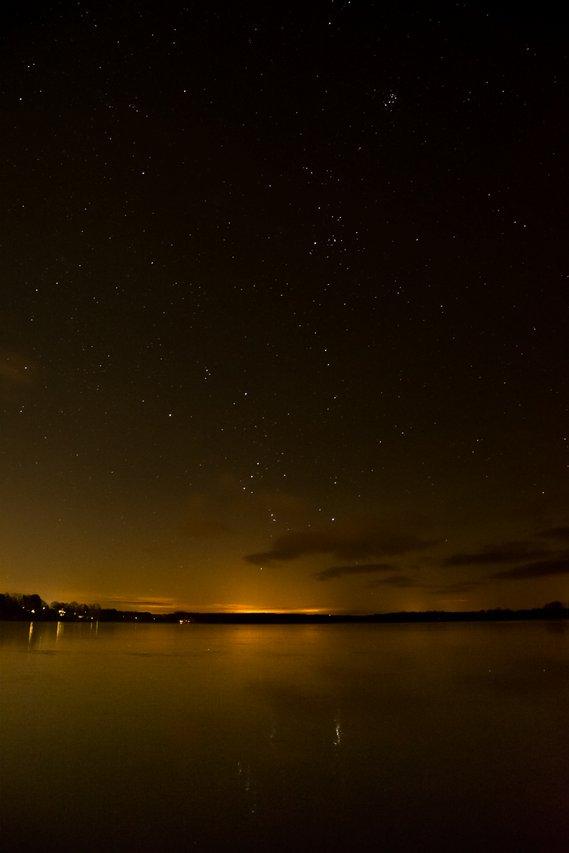 Pyhäjärvi by night